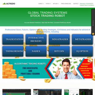 Altredo - The Best Forex, Stock, Futures, Options Robot, Indicator 100- automatic trading system.