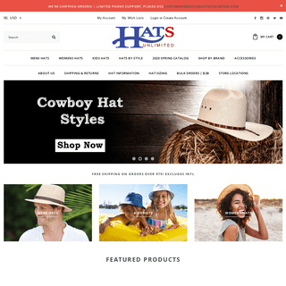 Hats Unlimited - A Great Selection of Hats & Caps Online - Hat Stores