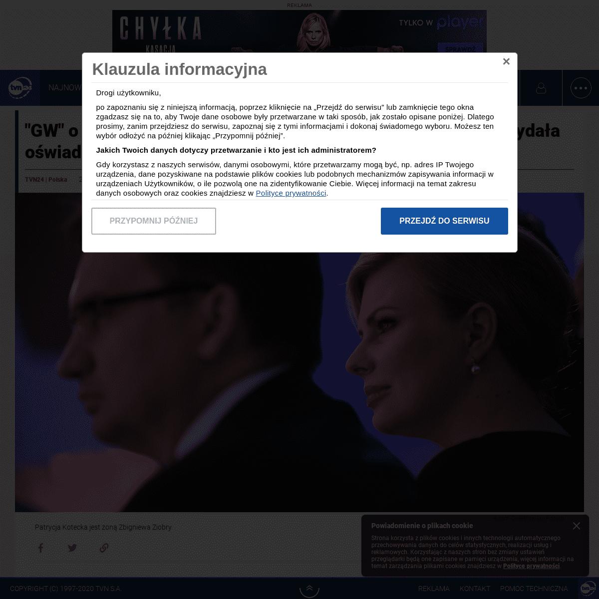 -Gazeta Wyborcza- o zeznaniach świadka koronnego w sprawie żony Zbigniewa Ziobry. Patrycja Kotecka- to kłamstwa - TVN24
