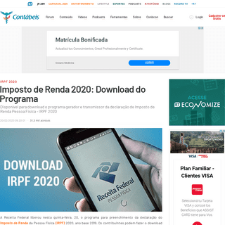 ArchiveBay.com - www.contabeis.com.br/noticias/42176/imposto-de-renda-2020-download-do-programa/ - Imposto de Renda 2020- Download do Programa