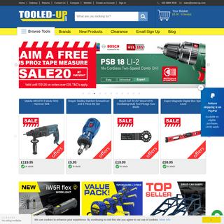 Tooled-Up.com supplies Tools, Hand Tools, Power Tools & Garden Tools