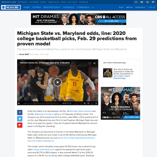 Michigan State vs. Maryland odds, line- 2020 college basketball picks, Feb. 29 predictions from proven model - CBSSports.com