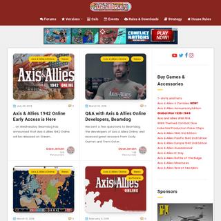 Axis & Allies .org Home - Axis & Allies .org