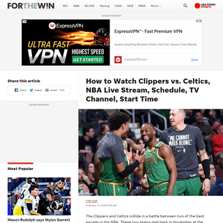 Clippers vs. Celtics Live Stream- TV Channel, How to Watch