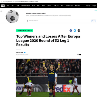 ArchiveBay.com - bleacherreport.com/articles/2877240-top-winners-and-losers-after-europa-league-2020-round-of-32-leg-1-results - Top Winners and Losers After Europa League 2020 Round of 32 Leg 1 Results - Bleacher Report - Latest News, Videos and Highlights