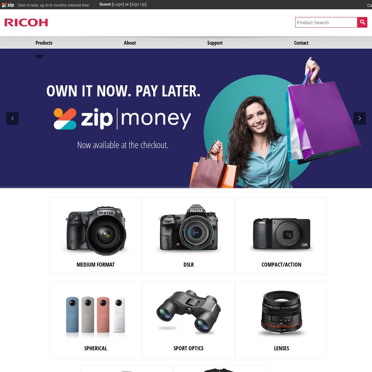 Digital Cameras, Video Cameras & Accessories - Ricoh Australia