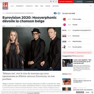 Eurovision 2020- Hooverphonic dévoile la chanson belge