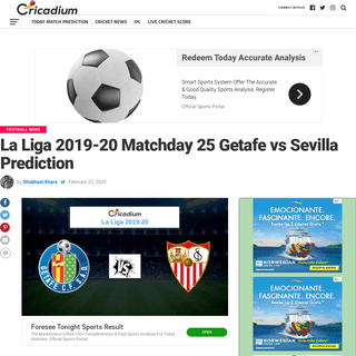 ArchiveBay.com - www.cricadium.com/la-liga-2019-20-matchday-25-getafe-vs-sevilla-prediction/ - La Liga 2019-20 Matchday 25 Getafe vs Sevilla Prediction