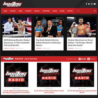 BoxingInsider.com - Boxing News Leader, Results, Interviews, Opinions, and more!