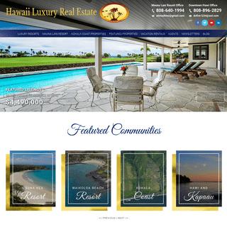 Hawaii Luxury Real Estate - Luxury Resorts Real Estate - Hawaii