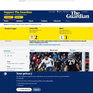 ArchiveBay.com - www.theguardian.com/football/live/2020/feb/16/aston-villa-v-tottenham-premier-league-live - Aston Villa 2-3 Tottenham- Premier League – as it happened - Football - The Guardian