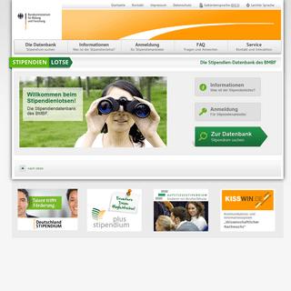 Willkommen beim Stipendienlotsen – Die Stipendiendatenbank des BMBF