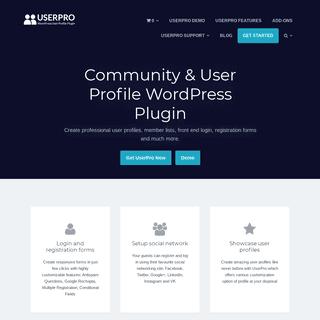 Community & User Profile WordPress Plugin - UserPRO