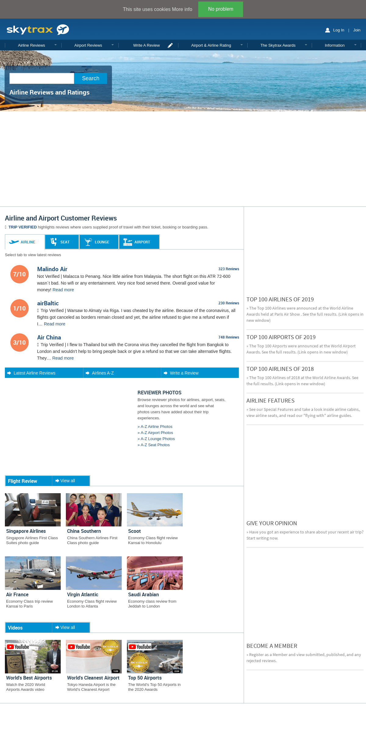 Airline Reviews and Rating - SKYTRAX