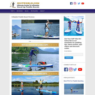 Inflatable SUP Reviews - Compare Before You Buy