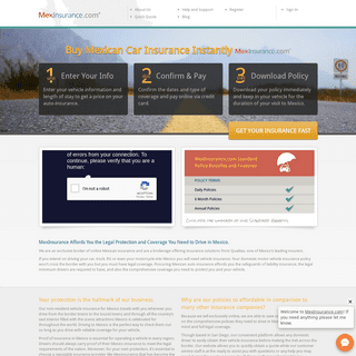 Mexican Car Insurance Online - MexInsurance.com