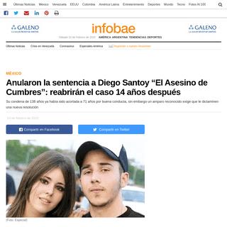 """Anularon la sentencia a Diego Santoy """"El Asesino de Cumbres""""- reabrirán el caso 14 años después - Infobae"""