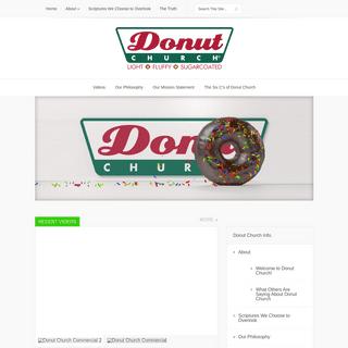 Donut Church – Fastest Growing Church in Town – Doughnut Church