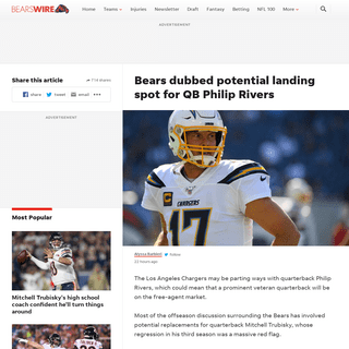 ArchiveBay.com - bearswire.usatoday.com/2020/01/28/chicago-bears-landing-spot-for-quarterback-philip-rivers/ - Bears dubbed potential landing spot for QB Philip Rivers