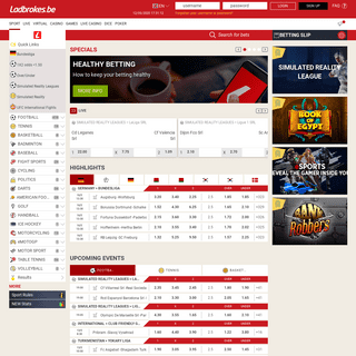 Online sports betting - Soccer betting odds on Ladbrokes.be