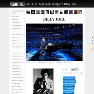 ONE FINAL SERENADE- THE SONGS OF BILLY JOEL (BILLY JOEL FAN SITE) - One Final Serenade- Songs of Billy Joel