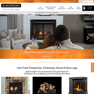 Monessen Hearth - Vent Free Fireplaces, Fireboxes, Stove & Gas Logs