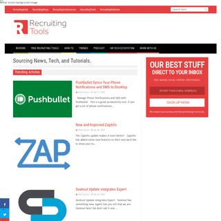 Sourcing News, Tech, and Tutorials. - Tools For Recruiters - RecruitingTools.com