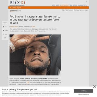 Morto il rapper Pop Smoke- ecco cos'è accaduto