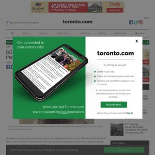 GO-TTC discount fares to end as Ontario pulls the plug on funding - Toronto.com