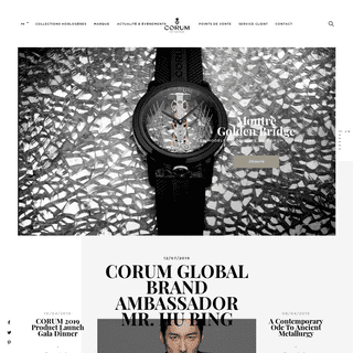Site officiel Corum - Fabricant de montres suisses