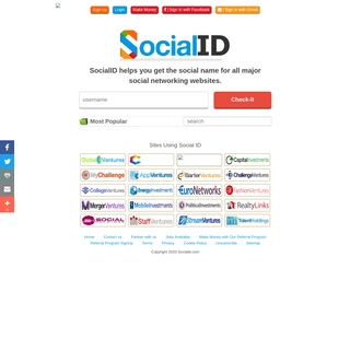 Get your social name for all major social networks at SocialId.com - SocialID.com - Order your social usernames and id's today f