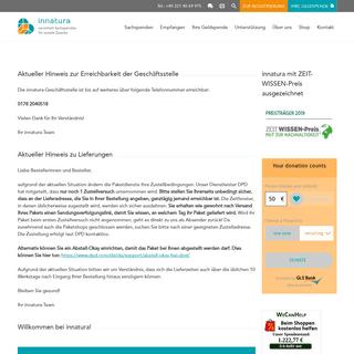 ArchiveBay.com - innatura.org - innatura gGmbH - Sachspenden für soziale Zwecke