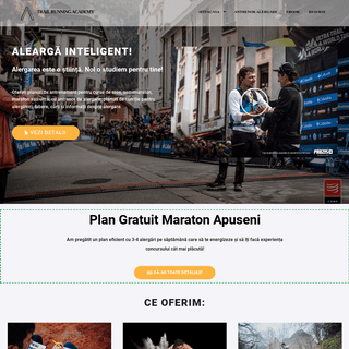 TrailRunning Academy - Smart Running (Homepage)