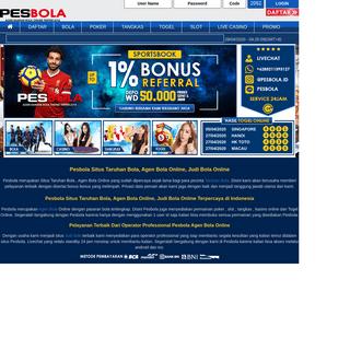 Pesbola- Situs Taruhan Bola, Agen Bola Online, Judi Bola