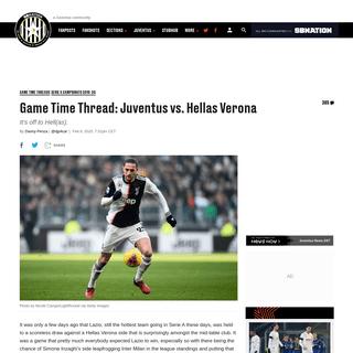 Game Time Thread- Juventus vs. Hellas Verona - Black & White & Read All Over