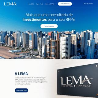 LEMA Economia & Finanças - Mais que uma Empresa de Consultoria de Investimentos para os RPPS