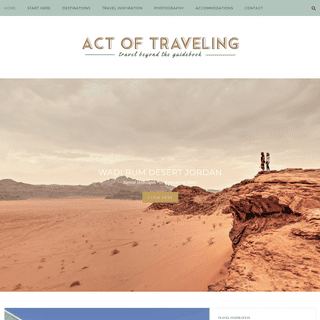 Act of Traveling - Traveling beyond the guidebook