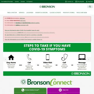 Bronson Healthcare- Calhoun, Kalamazoo, VanBuren - Bronson Healthcare