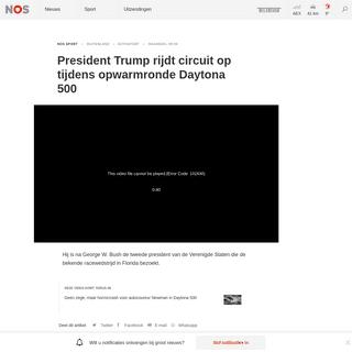 ArchiveBay.com - nos.nl/l/2323429 - President Trump rijdt circuit op tijdens opwarmronde Daytona 500 - NOS