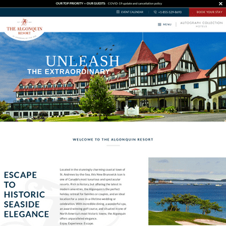 Historic Hotel in St. Andrews - The Algonquin Resort