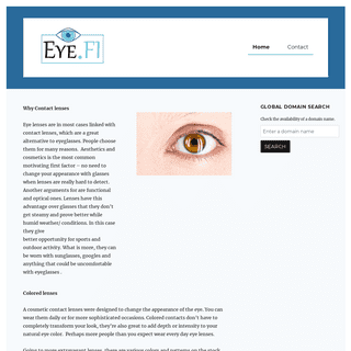 Home - Welcome to eye.fi, where you can read about eye lenses.