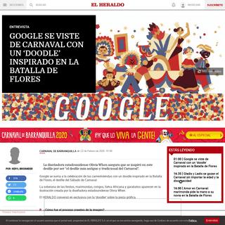 Google se viste de Carnaval con un 'doodle' inspirado en la Batalla de Flores - El Heraldo