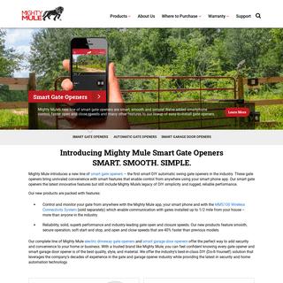 Mighty Mule Automatic Gate Openers & Smart Garage Door Openers