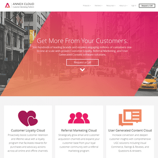 Annex Cloud- Customer Loyalty, Referral Marketing and UGC Solutions