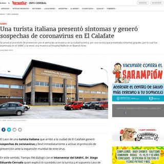 Una turista italiana presentó síntomas y generó sospechas de coronavirus en El Calafate