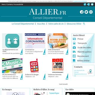 Accueil - Conseil Départemental de l'Allier