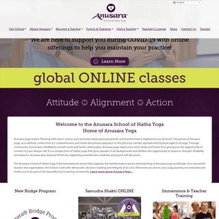 Anusara School of Hatha Yoga - 501(c)(3) Non-profit CorporationAnusara School of Hatha Yoga