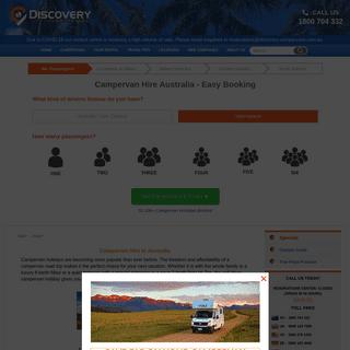 Campervan & Motorhome Hire Australia - Campervan Rental Deals with Discovery Campervans