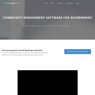 Online & Offline Community Engagement Software - PublicInput.com