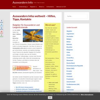 Auswandern Infos weltweit - Hilfen, Tipps, Kontakte